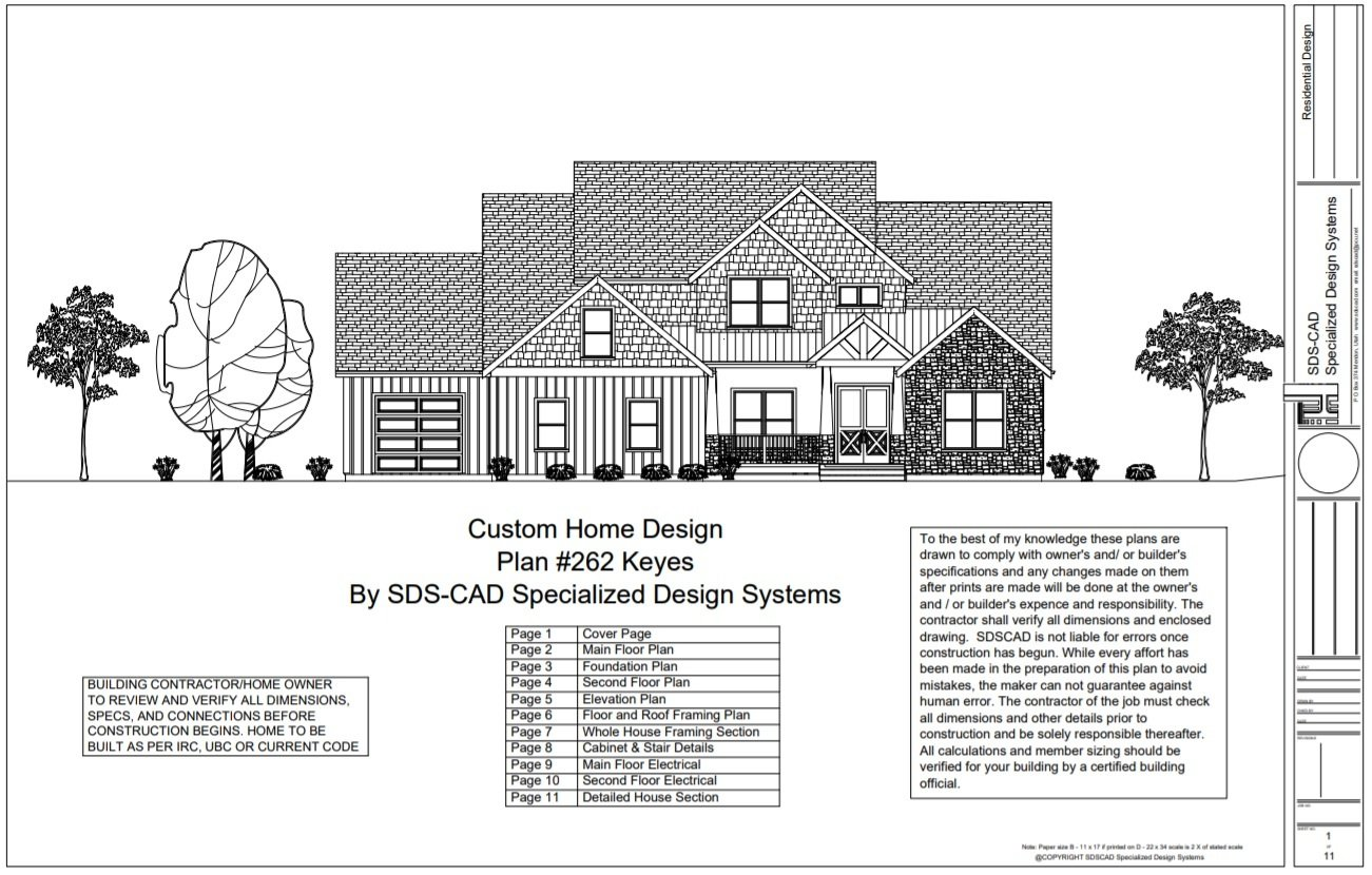 H262 2 Story Country Style House Plans Plansh262 Electrical Plan 2237 Sq Ft Main Floor 1111 Second Bedrooms On
