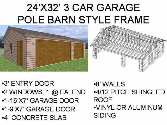 complete descriptions of each of the pole barn plans can be found in the store - Pole Barn Garage Plans