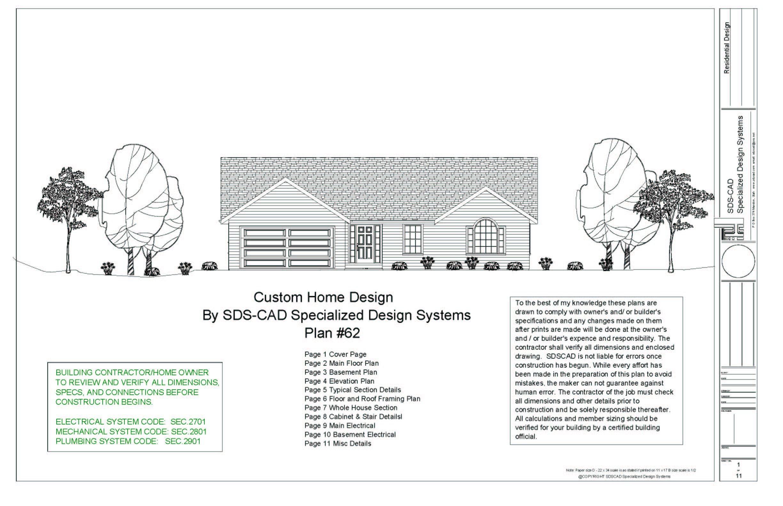 5 Complete House Plans Construction Blueprints Autocad Dwg And Pdf