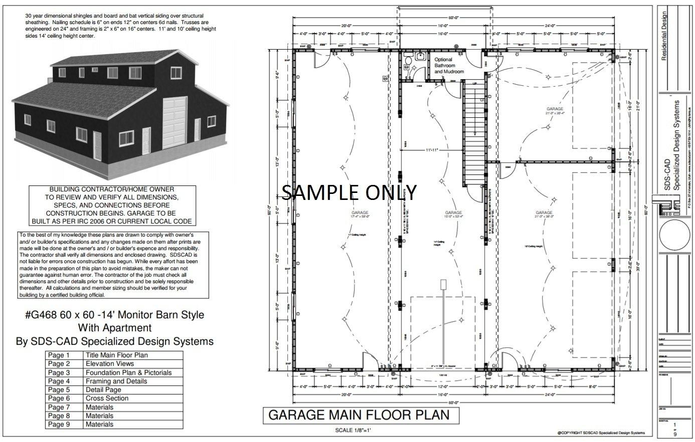 Rv Garage Sds Plans