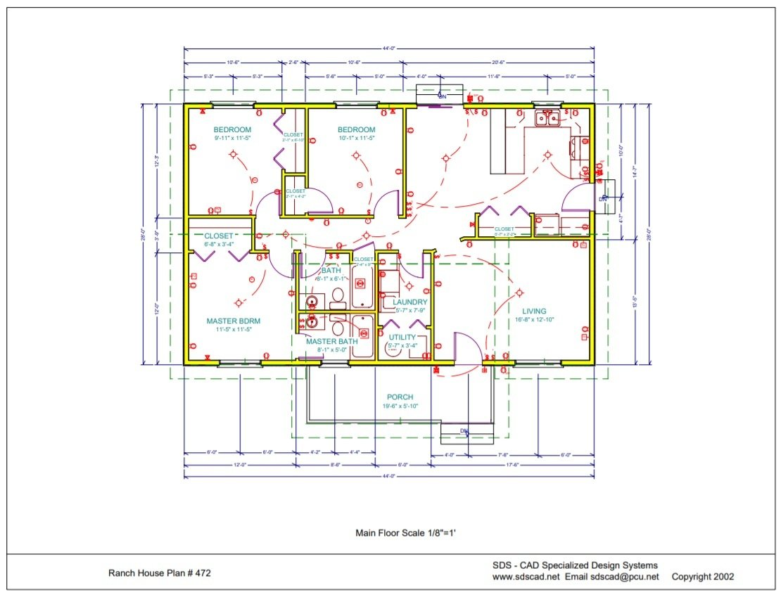 Ranch house plan pdf blueprint construction documents 999 sds plans httpsdscad complete set of building plans for a ranch style house 1230 sq ft 3 bedroom 2 bath spec home complete construction drawings blueprints malvernweather Choice Image