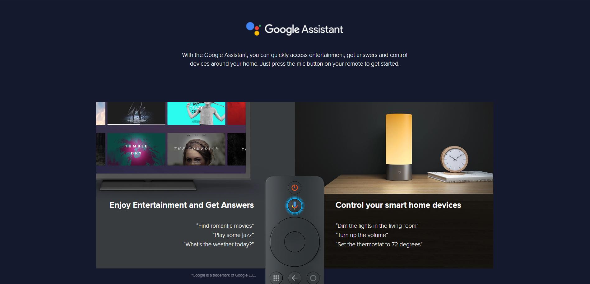 Xiaomi Mi S - Google Assistant