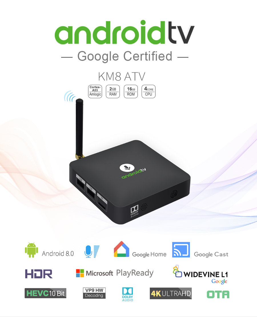 KM8 2GB/16GB S905X Android TV OS Smart TV Box