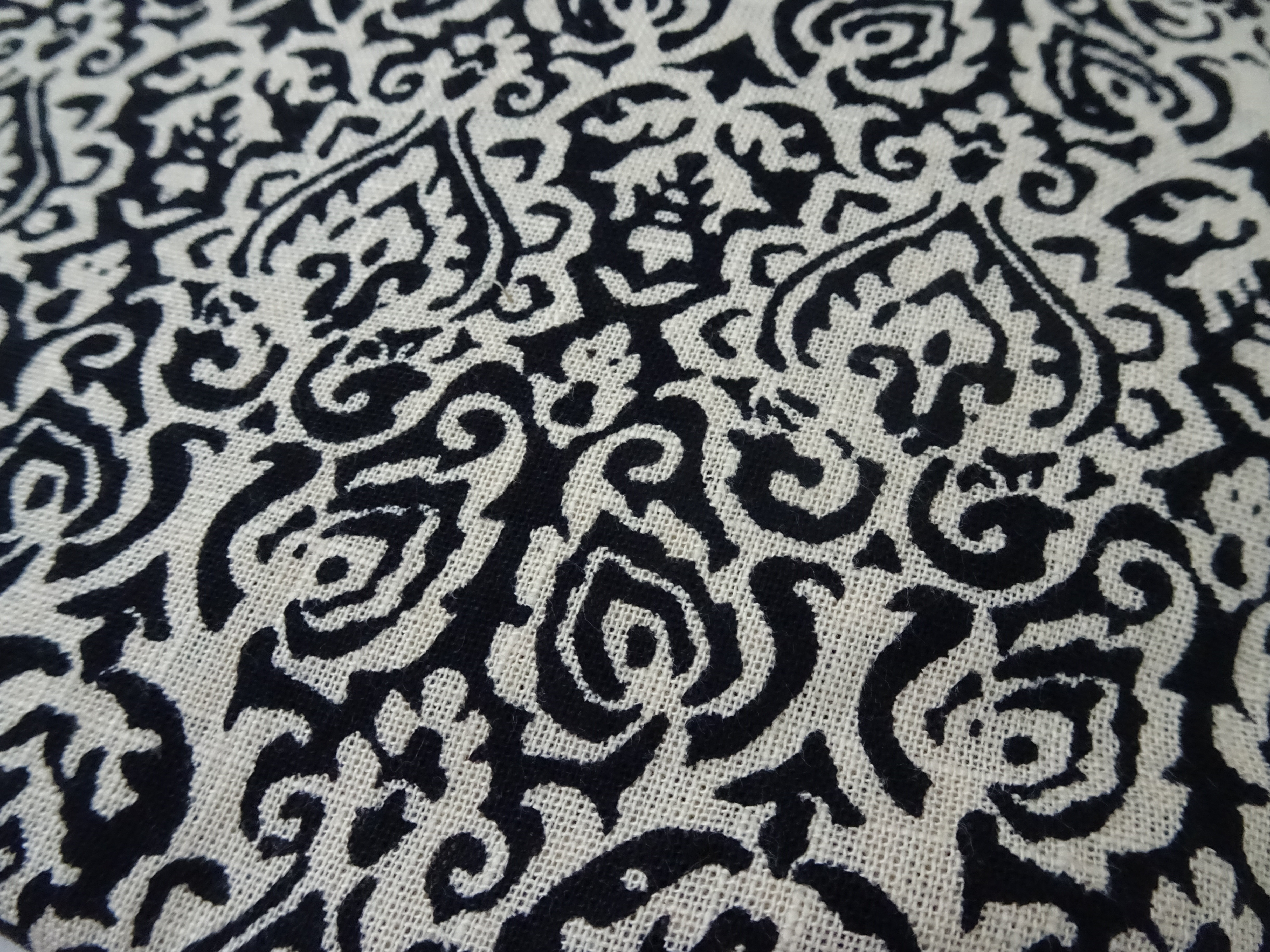 blockprinted linen