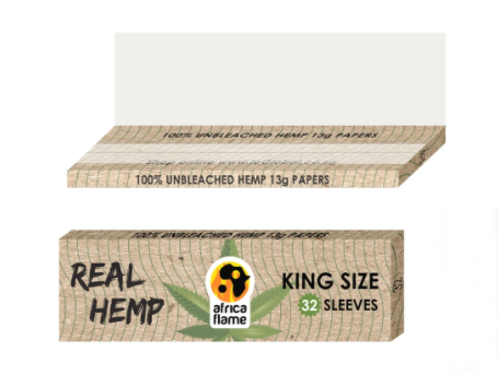 King Size Real Hemp Rolling Paper - 32 pcs (booklet)
