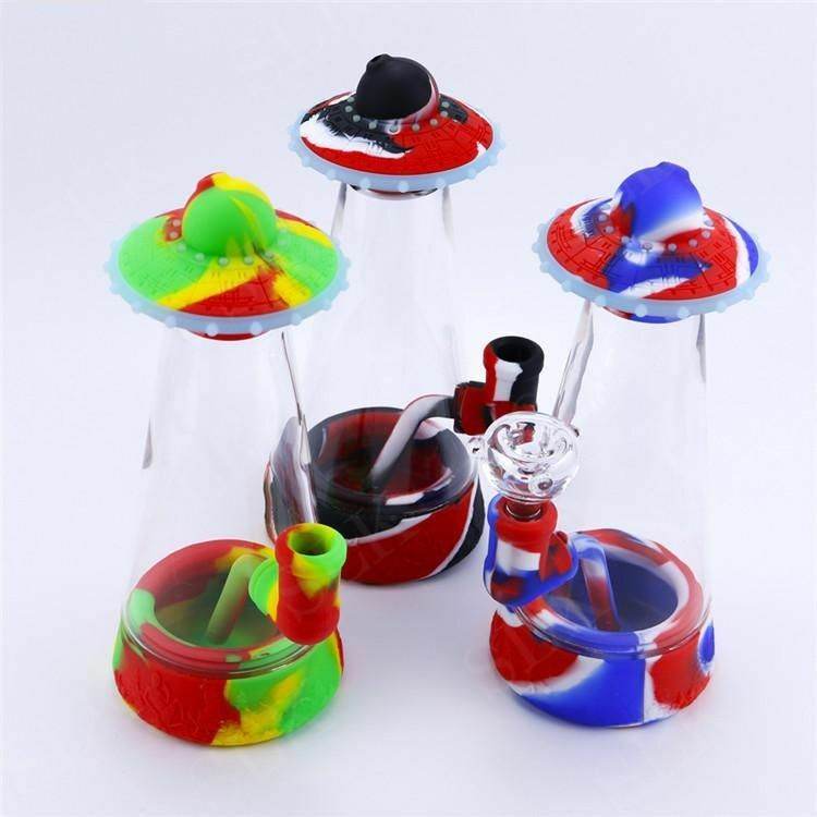 UFO Silicone Bubbler Smoking Water Pipe | moodTime
