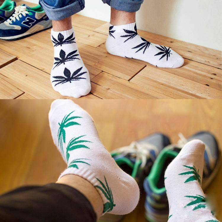 Streetwear Ankle Cannabis Weed Leaf Design Socks | moodTime