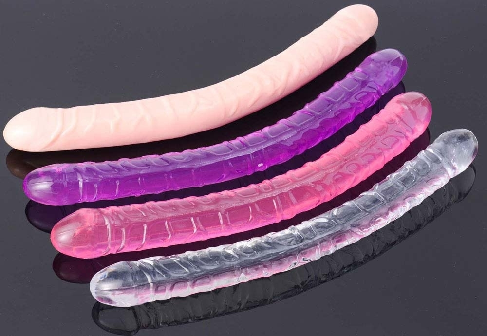 33cm Jelly Double Dildo Anal Sex Toy | moodTime