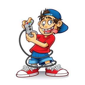 Crazy Kid Video Game Controller