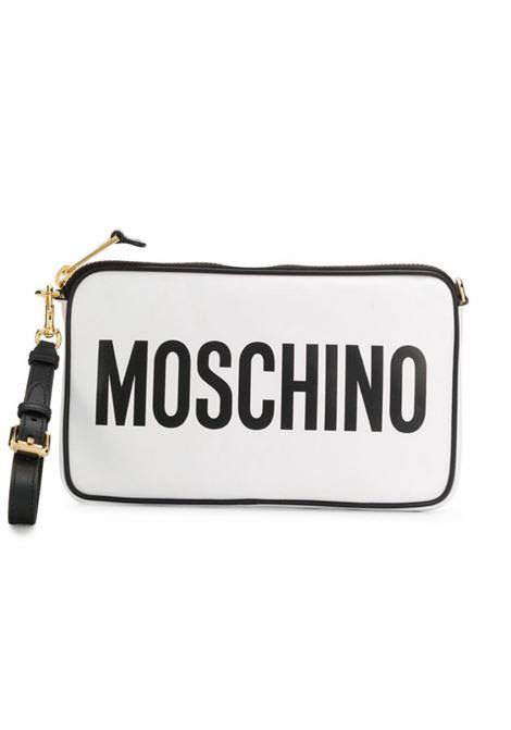 tracolla bianco scritta Moschino | Borsa | A7417-80011001