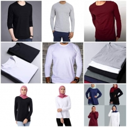 Tshirts basic long sleeves for  men and women