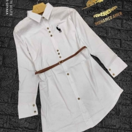 Shmize Polo Long style  with a  belt for women