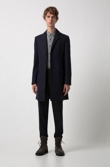 Cappotto slim fit in misto lana con revers classico. HUGO BOSS HUGO | Cappotti | 50395949410
