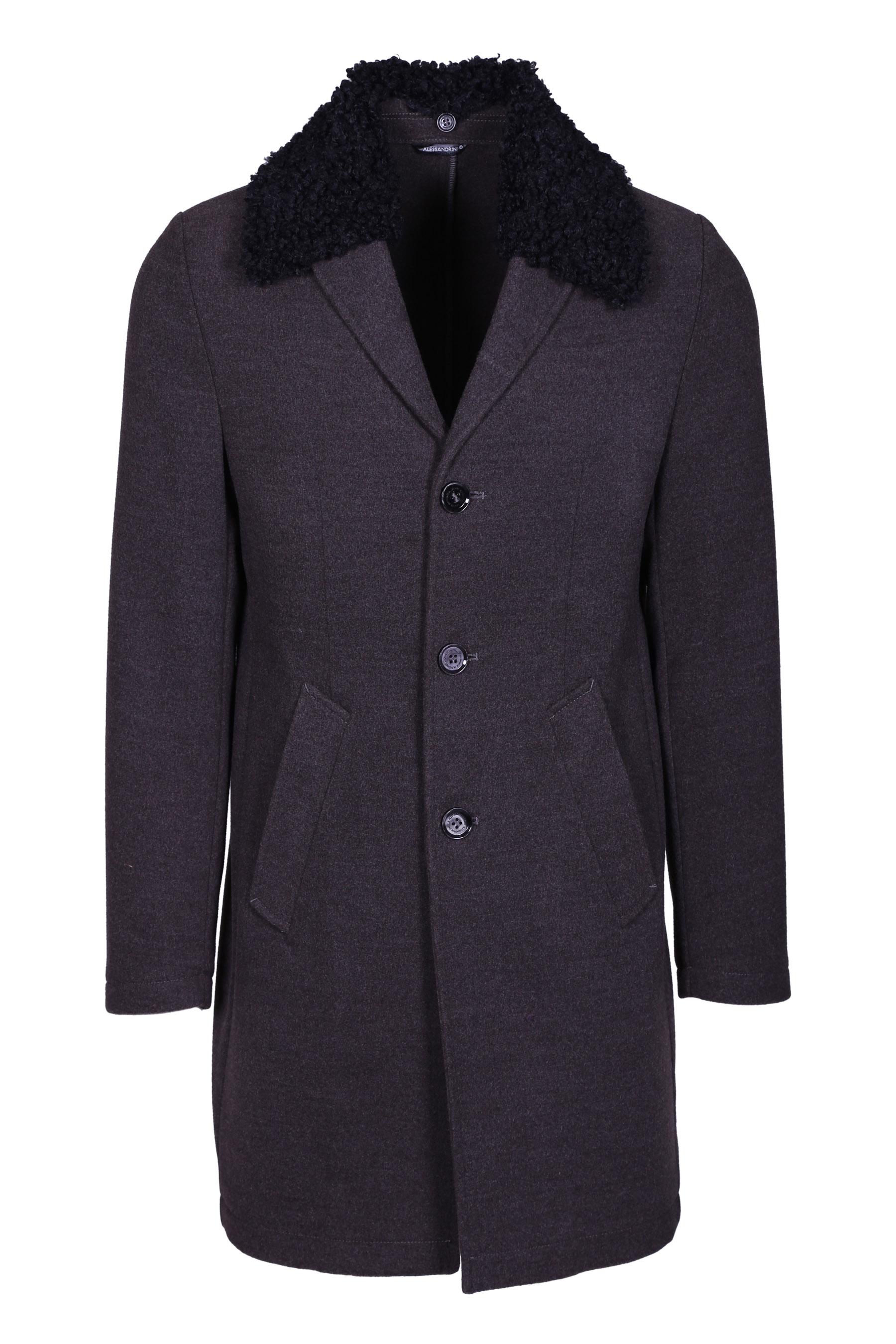 Three-button coat with fur collar DANIELE ALESSANDRINI | Coat | T529M510390610