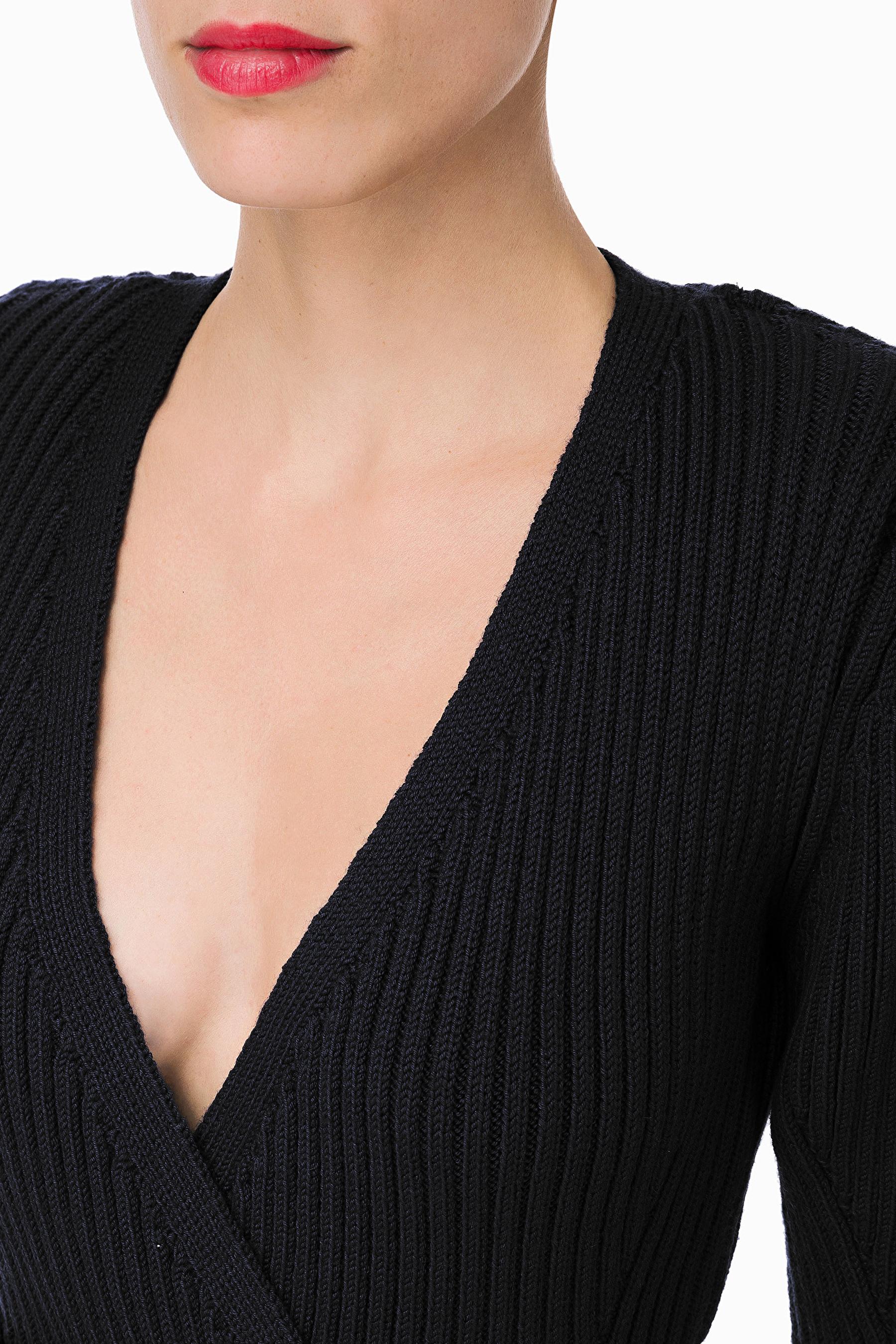 Knitted dress with belt ELISABETTA FRANCHI | Dresses | AM45M96E2110