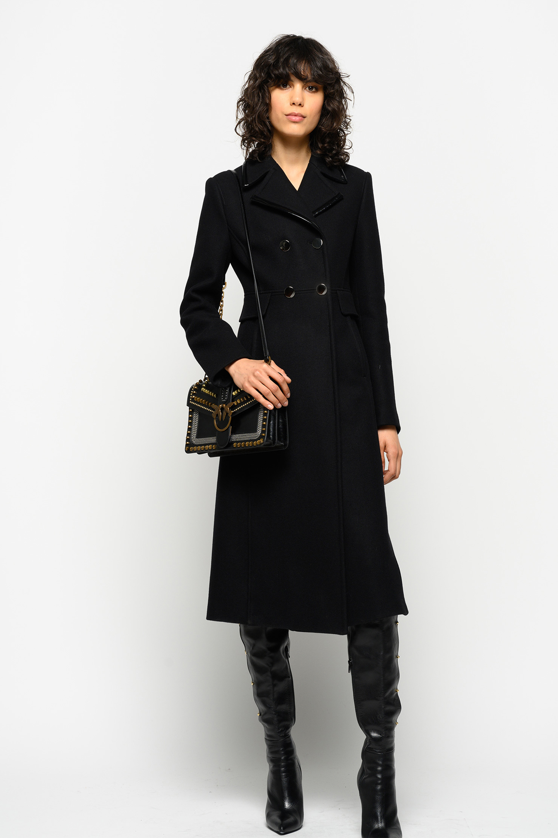 LONG WOOL MELTON COAT PINKO | Coat | 1G14D97507Z99
