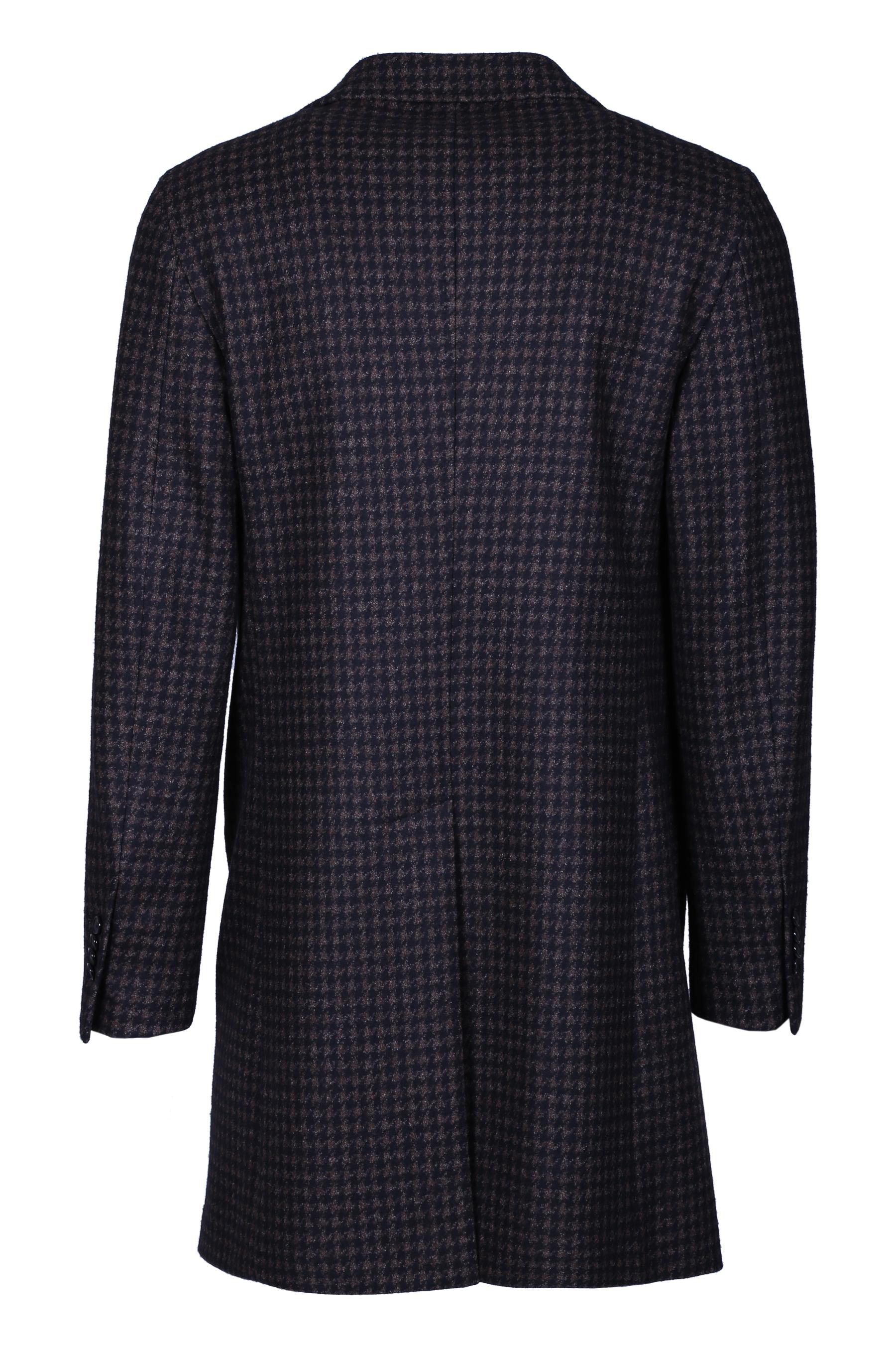 COAT IN PIED DE POULE TAGLIATORE | Overcoat | CSBJ13X57TIJ094M1514