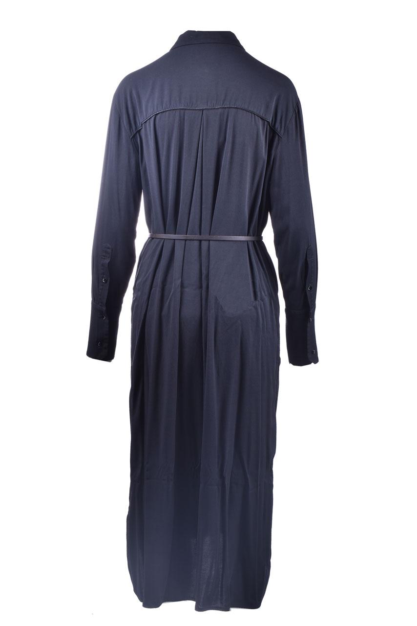 Black shirt dress with belt ALESSIA SANTI | Dresses | 15065S3000