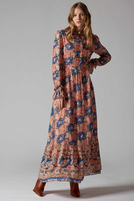 Long dress with floral print ANTIK BATIK |  | ABBYE1LDRMULTICOLOR