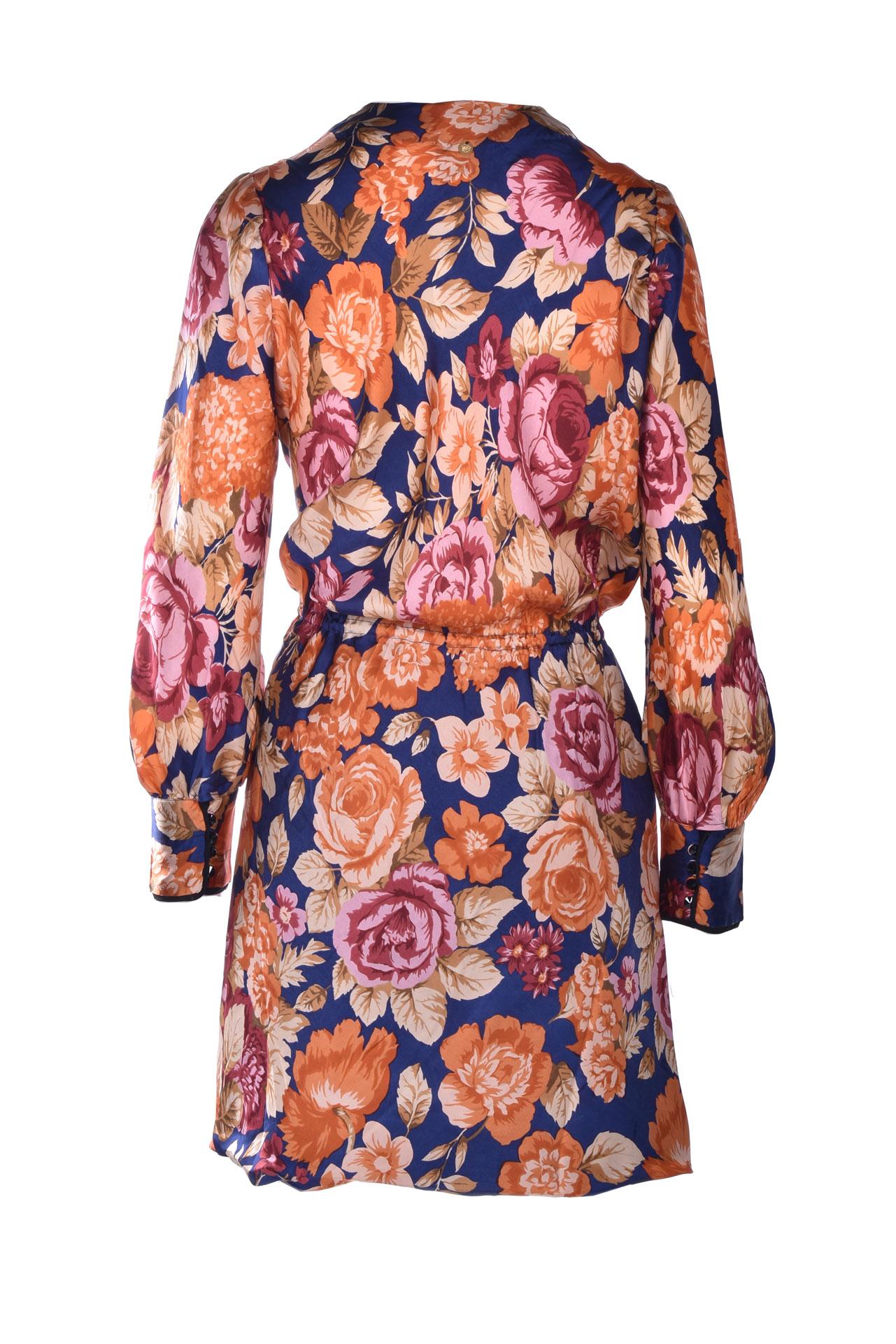 Mini wrap dress with floral prints ANTIK BATIK | Dresses | CAMILLE1MDRNAVY