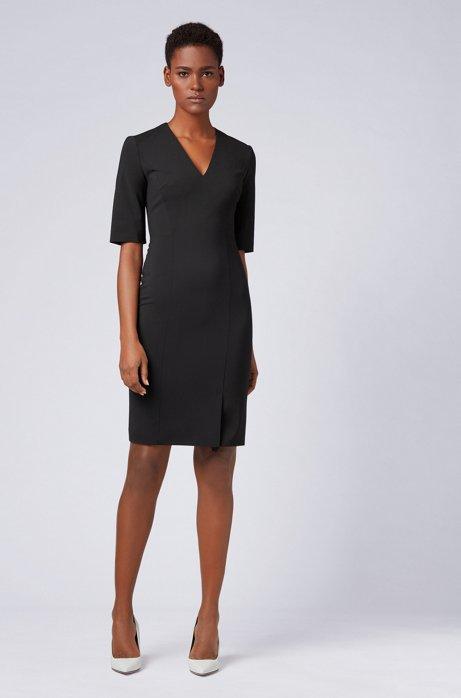 Tubino in lana vergine elasticizzata BOSS | Vestiti | 50395627001