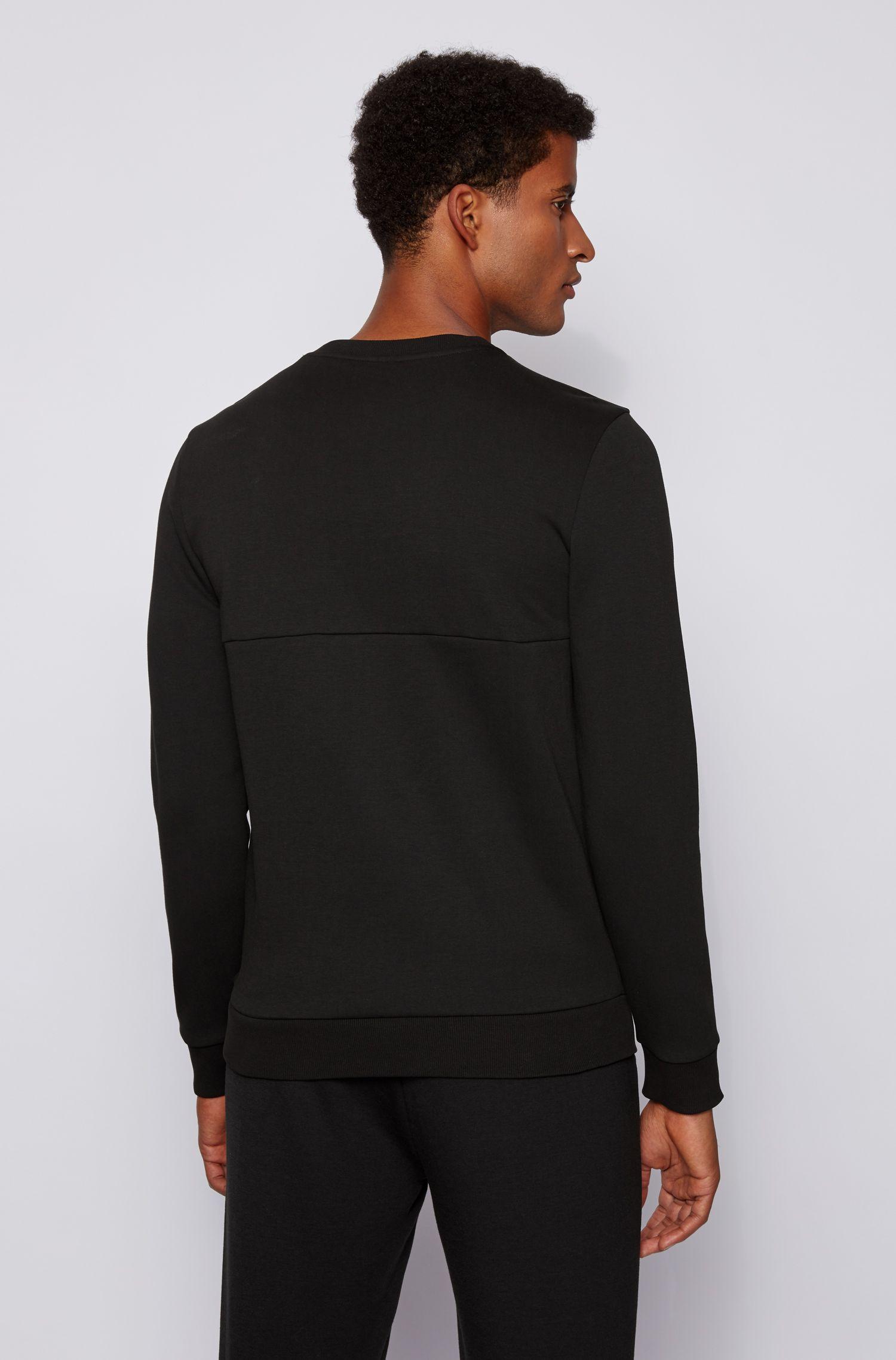 salbo Slim fit sweater with printed logo - black BOSS | Sweatshirt | 50434921009