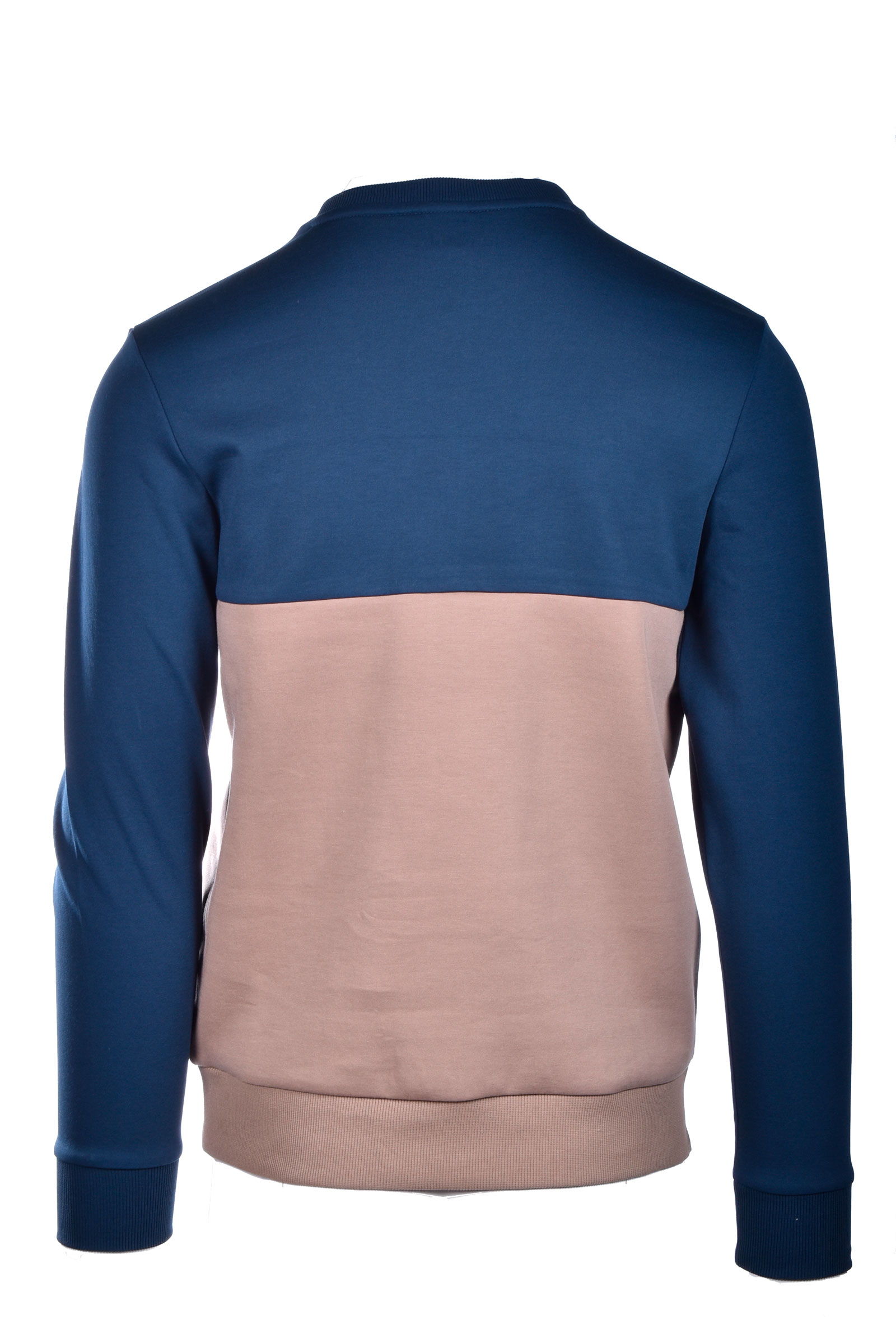 salbo Slim fit sweater with printed logo - blue/ beige BOSS | Sweatshirt | 50434921960
