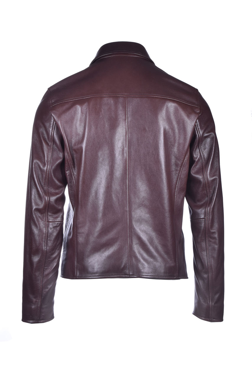 Brown leather jacket BOSS | Jackets | 50436400244