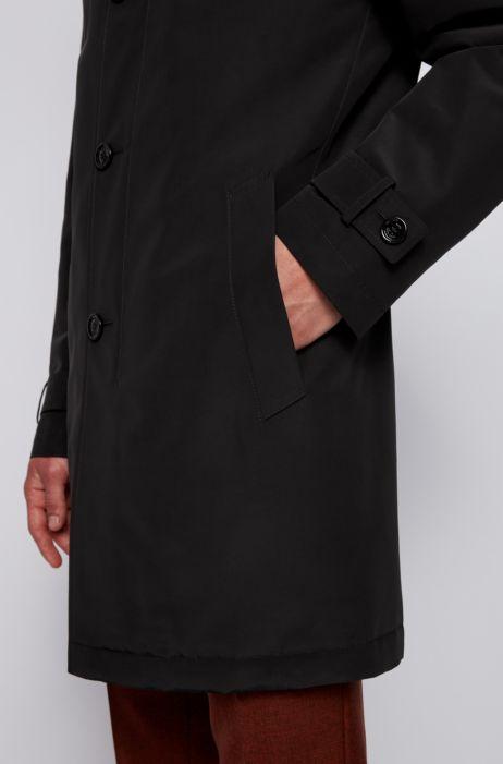 Regular fit overcoat in recycled memory fabric BOSS | Coat | 50436691001