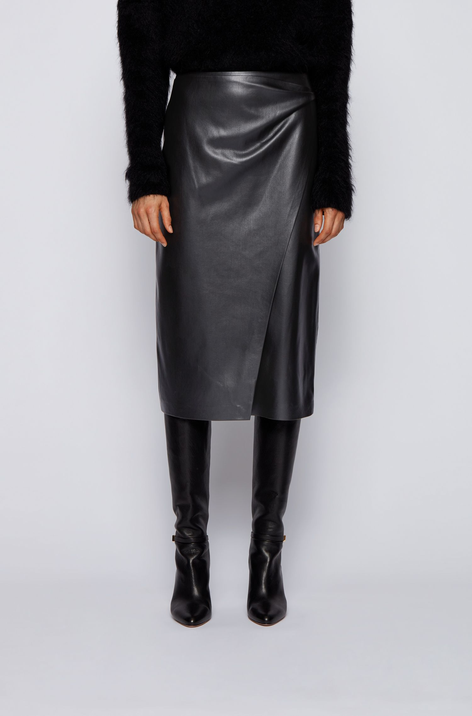 Faux leather wrap pencil skirt BOSS | Skirts | 50437330001