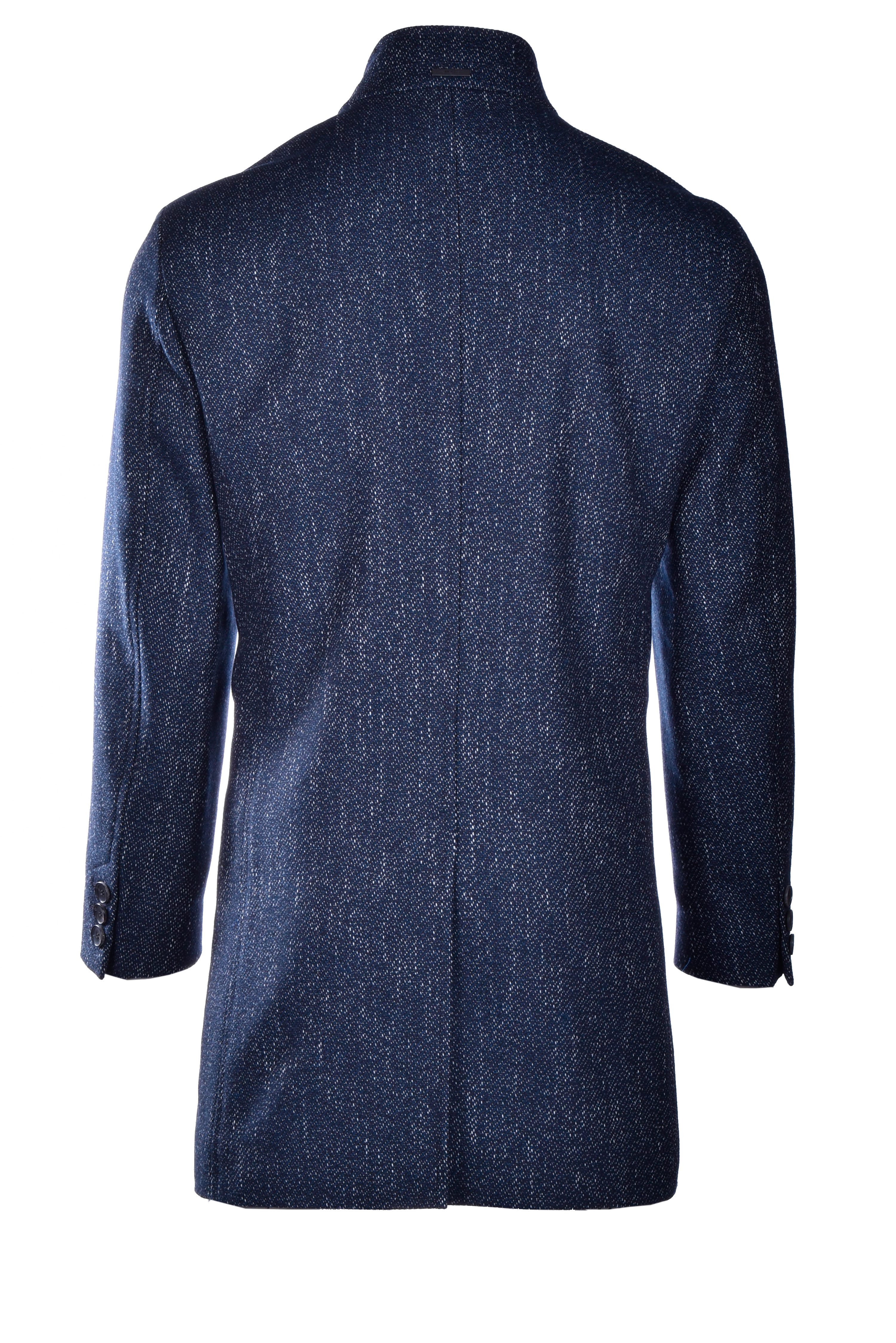 Salt and pepper men's coat with placket BOSS | Coat | 50438522417
