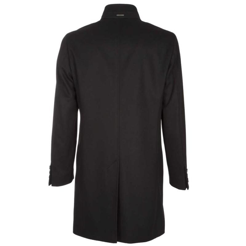 Shanty 3 Cappotto slim fit in lana vergine e cashmere- nero BOSS | Cappotti | 50438690001