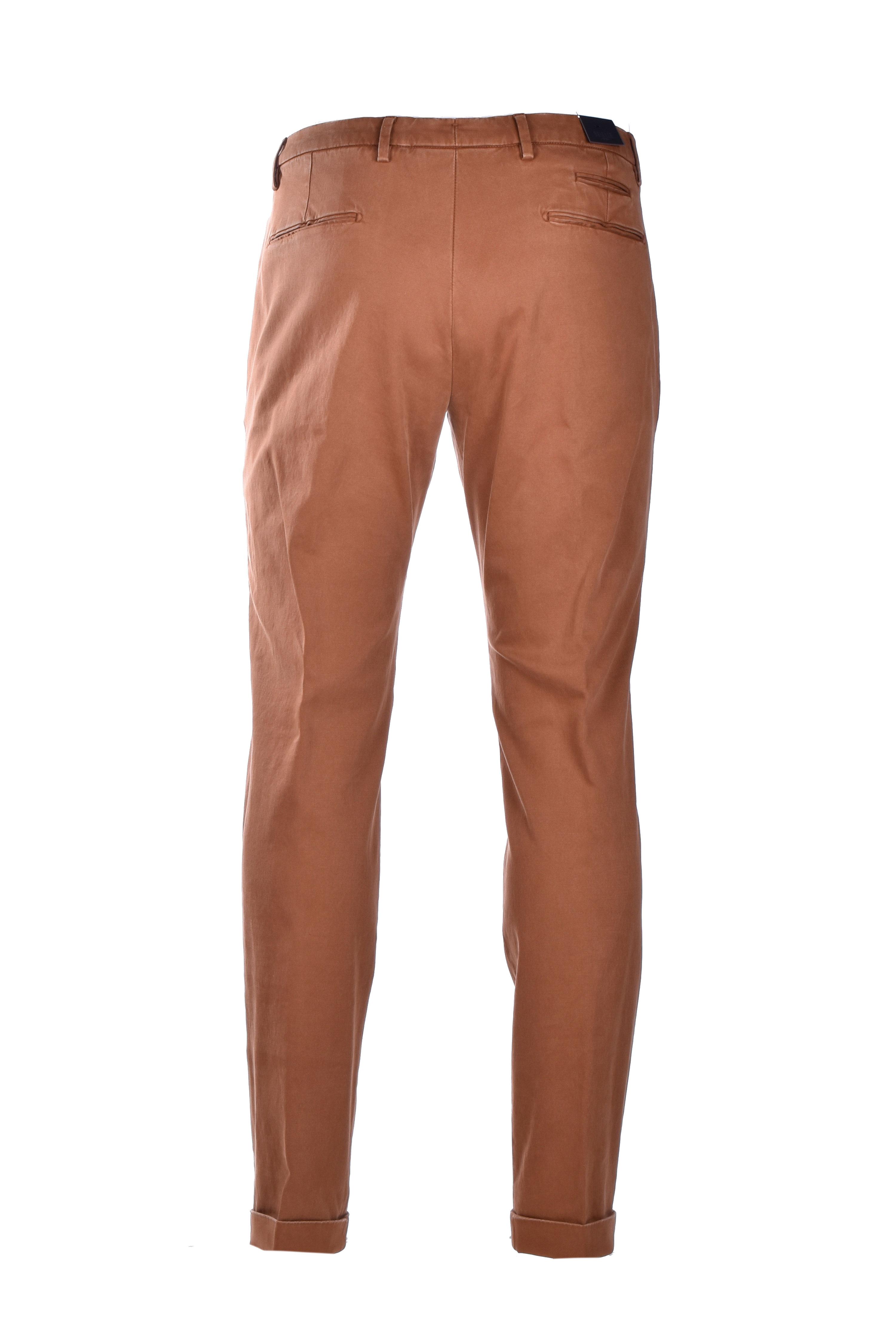 Cotton chino trousers - dark brown BRIGLIA   Pants   BG07 420557573