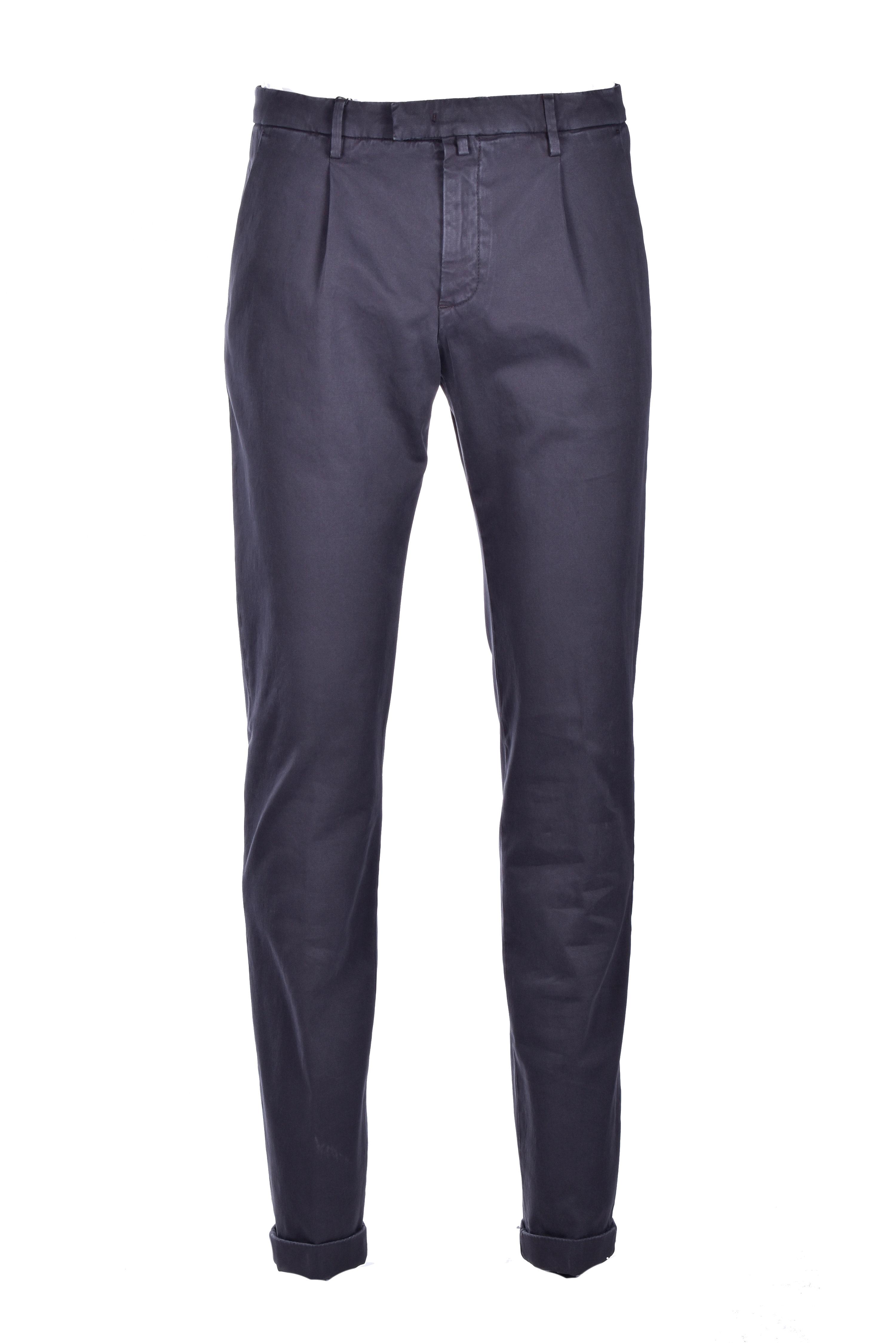 Cotton chino trousers - dark gray BRIGLIA   Pants   BG07 420557590