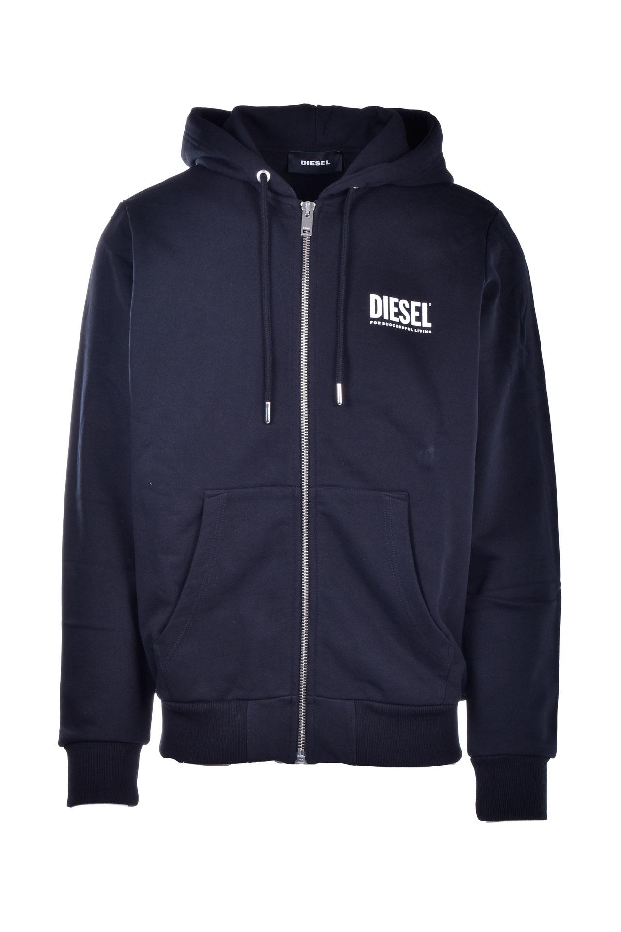 Sweatshirt with zip and hood with logo prints DIESEL | Sweatshirt | 00SAV1 0BAWT900