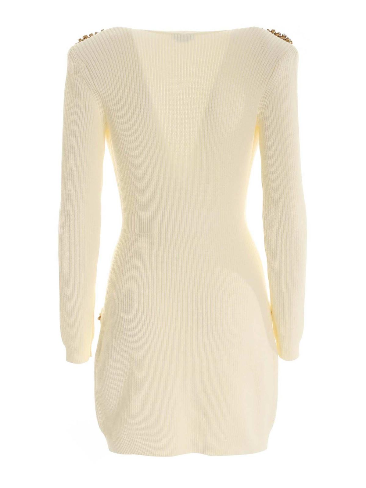 Butter double breasted cardigan dress ELISABETTA FRANCHI | Dresses | AM24S06E2193