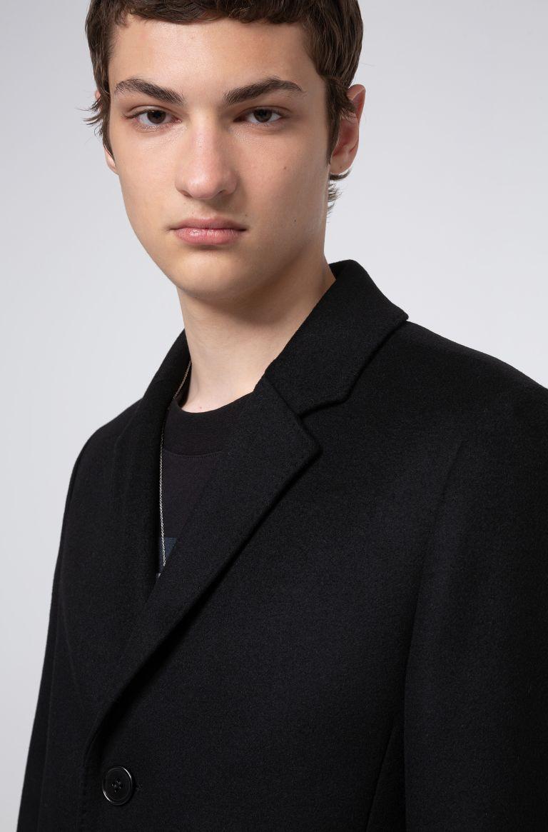 Migor Slim fit coat in virgin wool blend HUGO | Coat | 50438437001