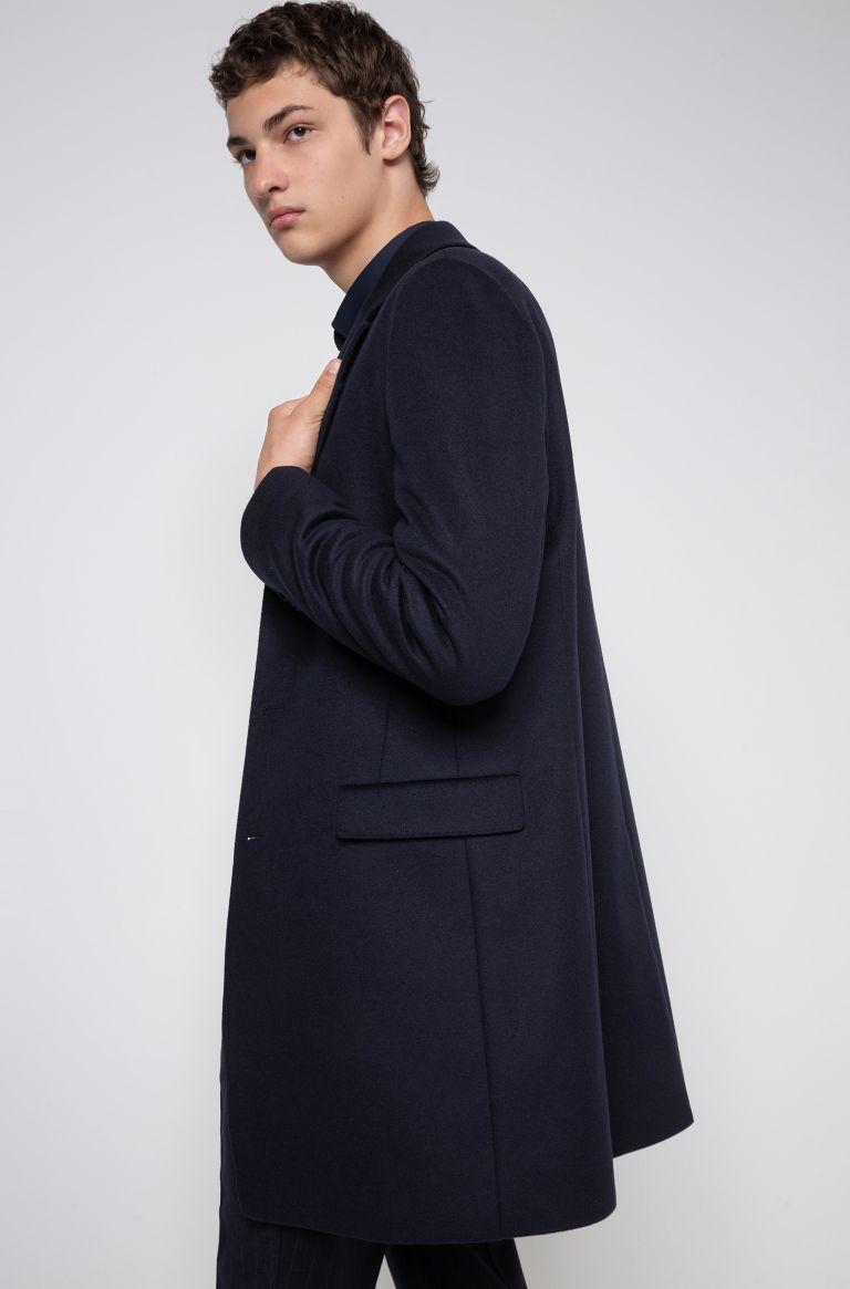 Migor Slim fit coat in virgin wool blend HUGO | Coat | 50438437405