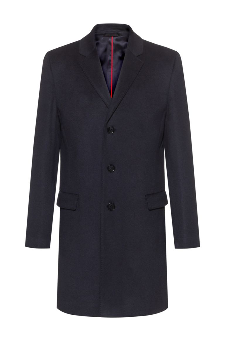 Migor Elegant slim fit coat in pure cachmere HUGO | Coat | 50438921405