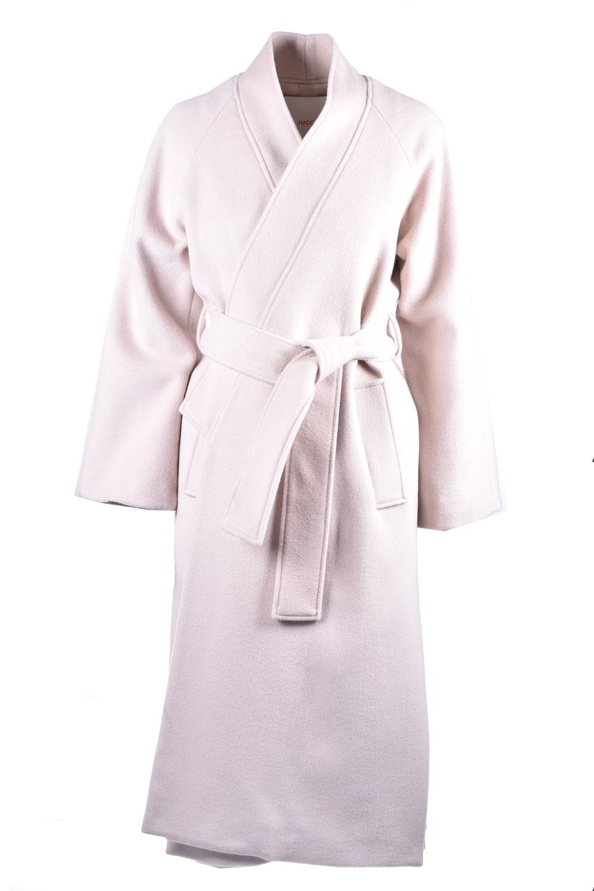Kimono coat in virgin wool with belt JUCCA | Overcoat | J3216002317