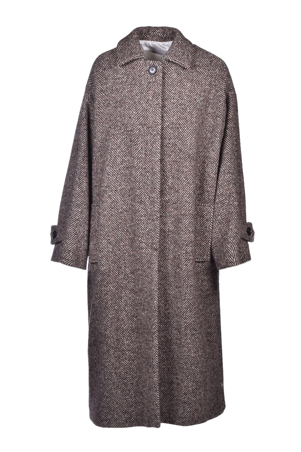 Herringbone coat in virgin wool JUCCA | Coat | J32160101675