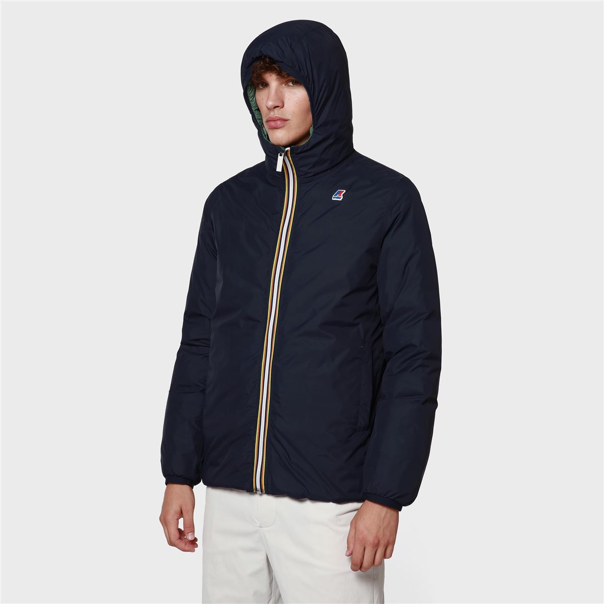 Jacques thermo plus double black and green K-WAY | Jackets | K111BEWA10