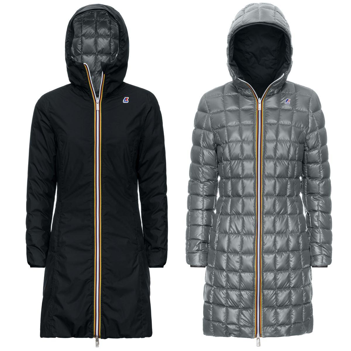 Charlene thermo black and gray reversible parka K-WAY | Overcoat | K111BIWA3G