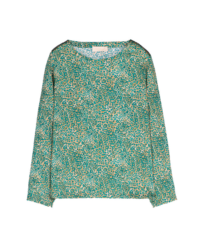 Blusa bombolone in raso stretch di seta MOMONI | Bluse | MOBL0041065