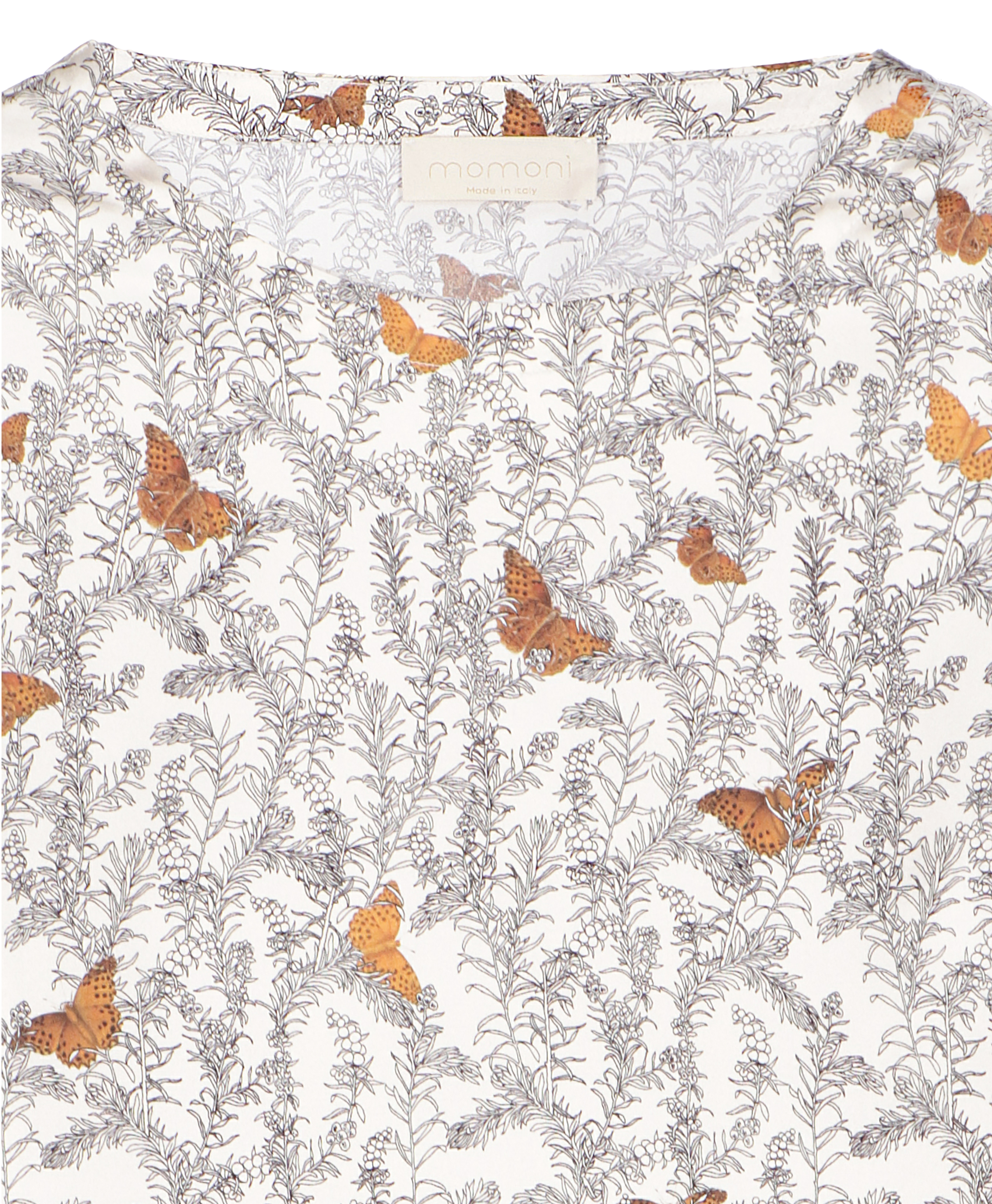 Bombolone patterned blouse with butterflies MOMONI | Blouse | MOBL0041075