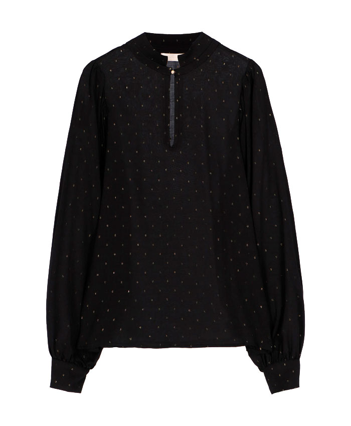 Centauro blouse with golden polka dots MOMONI | Blouse | MOBL0070990
