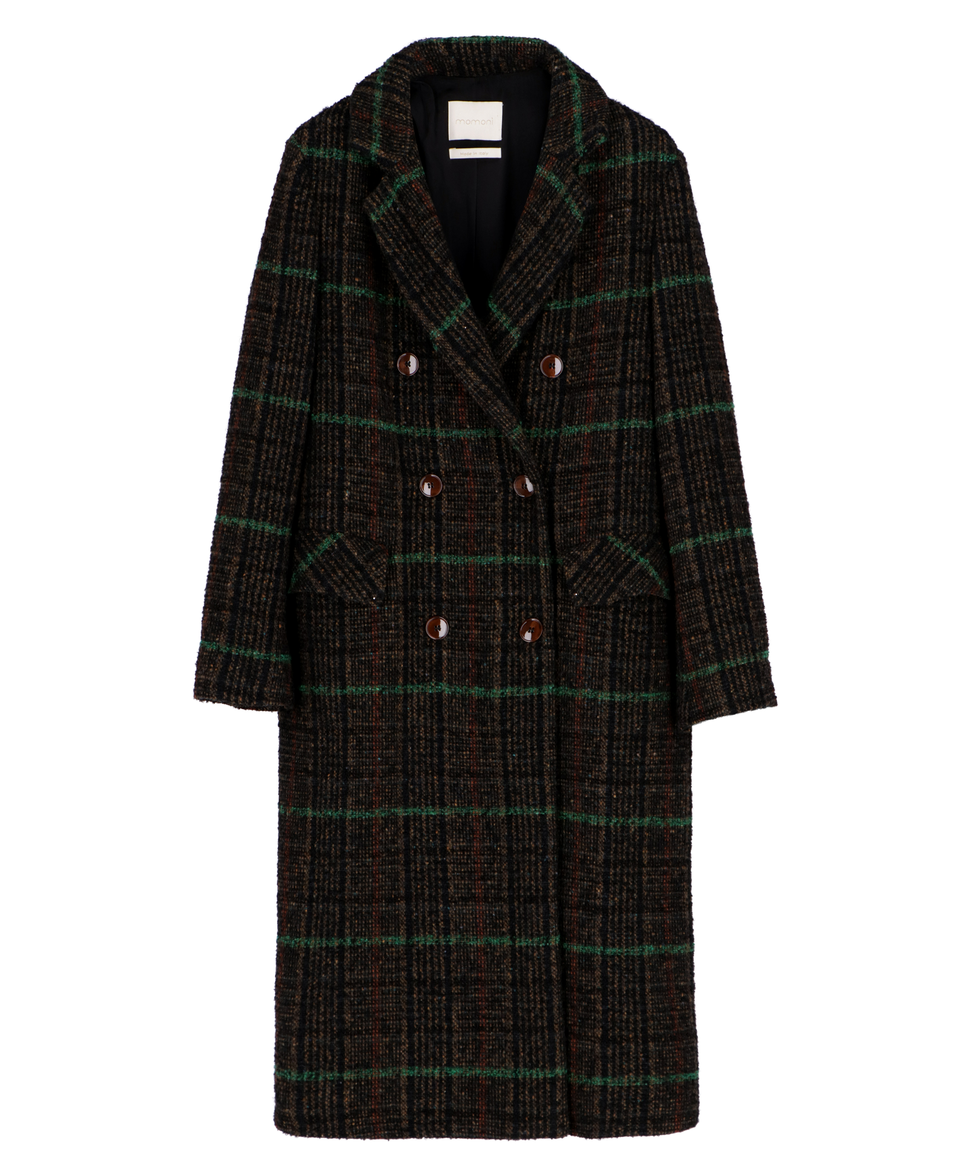 Opale Check wool coat MOMONI | Coat | MOCO0107091