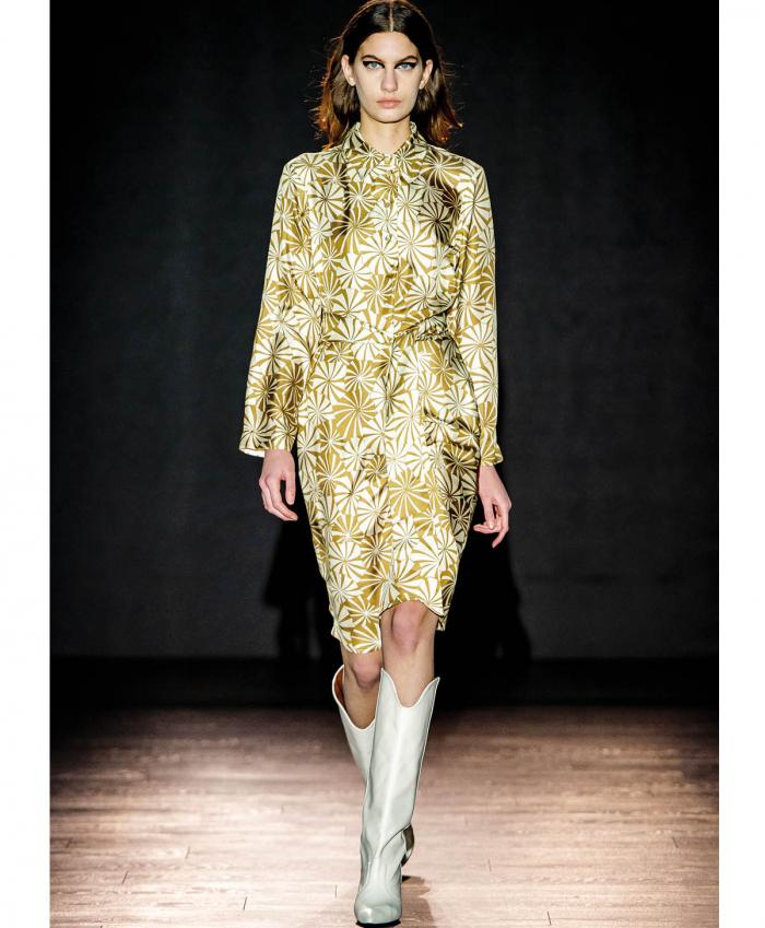 Agata Shirt dress in silk twill MOMONI |  | MODR0021081