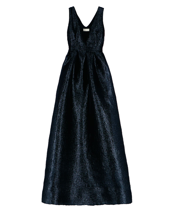 Long dress in black lurex organza MOMONI |  | MODR0300990