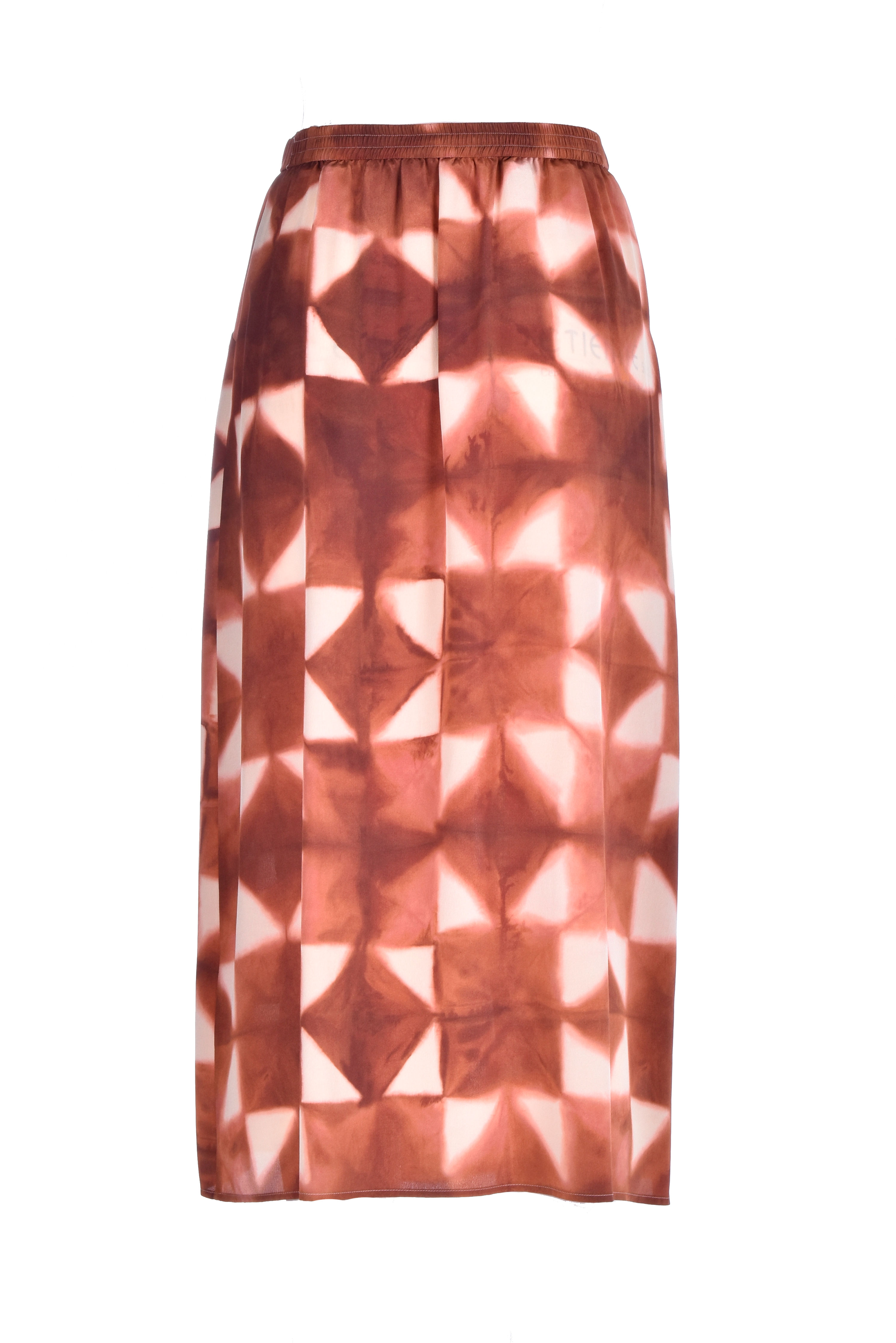 Ceres Long skirt in beige silk crepe de chine MOMONI | Skirts | MOSK0016015